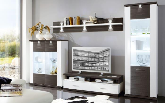 Wohnwand Manhattan In Weißgraphite Online Bei Hardeck Kaufen