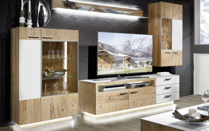 wohnwand kitzalm montana kernasteiche online bei hardeck entdecken. Black Bedroom Furniture Sets. Home Design Ideas