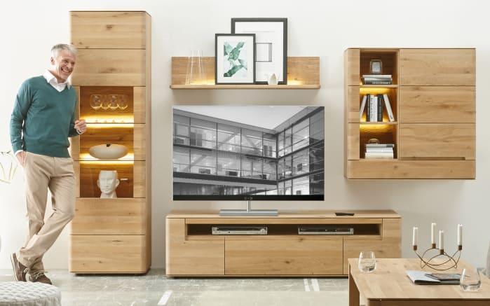 wohnwand milano in wildeiche massiv bianco ge lt online. Black Bedroom Furniture Sets. Home Design Ideas