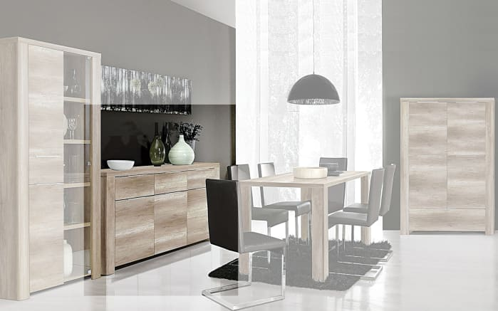 Sideboard Calpe in Eiche-Optik antik