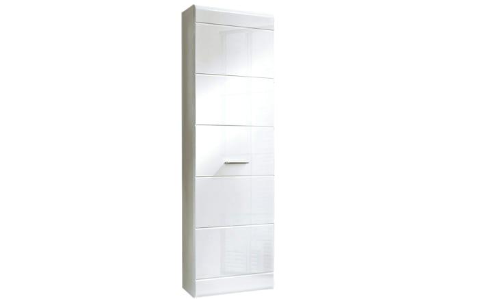 Garderobenschrank Slate in weiß