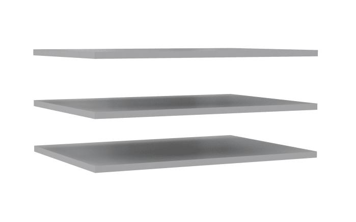 Einlegeböden Ohio in grau, 3er-Set