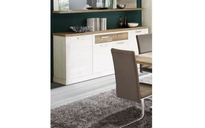 sideboard duro in pinie optik wei eiche optik antik online bei hardeck kaufen. Black Bedroom Furniture Sets. Home Design Ideas