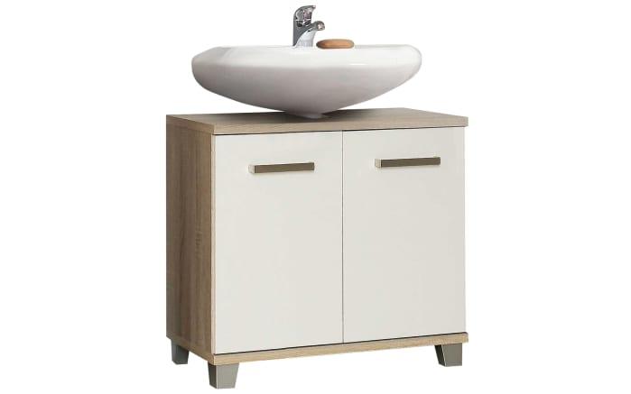 Waschbeckenunterschrank Veris in weiß/Sonoma Eiche-Optik