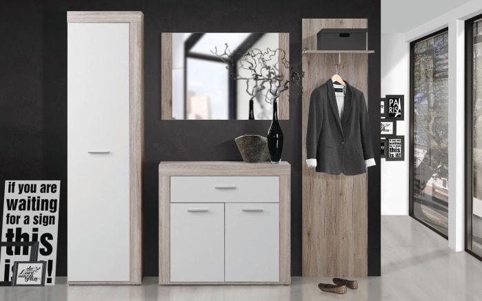 Garderobenkombination Zumba in Sandeiche-Optik/weiß