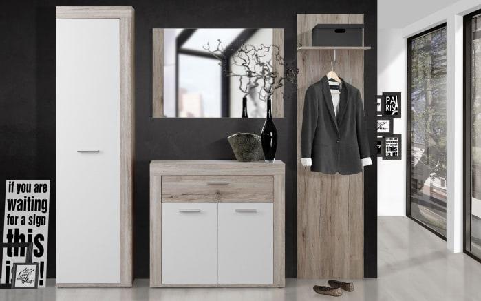 garderobe zumba in sandeiche nachbildung wei online bei hardeck kaufen. Black Bedroom Furniture Sets. Home Design Ideas