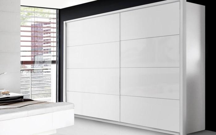 Schwebetürenschrank Starlet Plus in weiß, Breite ca. 220 cm