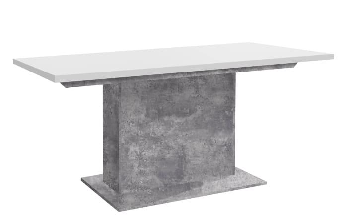 Esstisch Levante in Beton-Optik lichtgrau/weiß