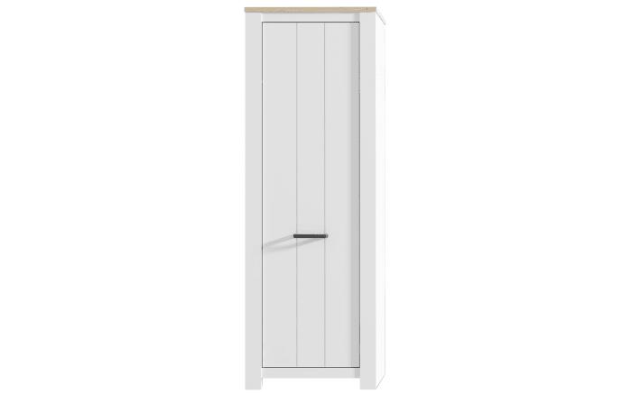 Garderobenschrank Elara in Eiche-Bianco-Optik/weiß