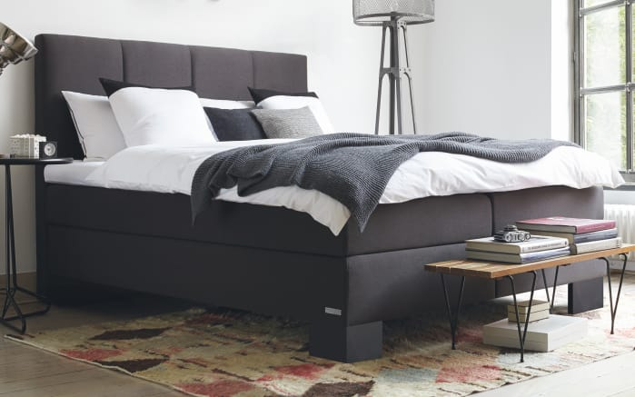 boxspringbett saga aktion in anthrazit online bei hardeck. Black Bedroom Furniture Sets. Home Design Ideas