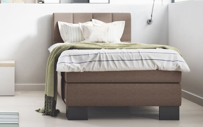 boxspringbett saga aktion in mocca online bei hardeck. Black Bedroom Furniture Sets. Home Design Ideas