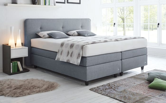 boxspringbett vitessa in grau online bei hardeck kaufen. Black Bedroom Furniture Sets. Home Design Ideas