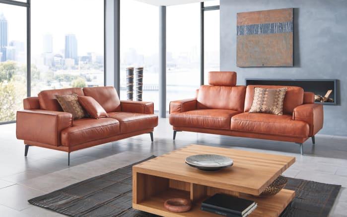 ledergarnitur foscaari in cognac online bei hardeck kaufen. Black Bedroom Furniture Sets. Home Design Ideas