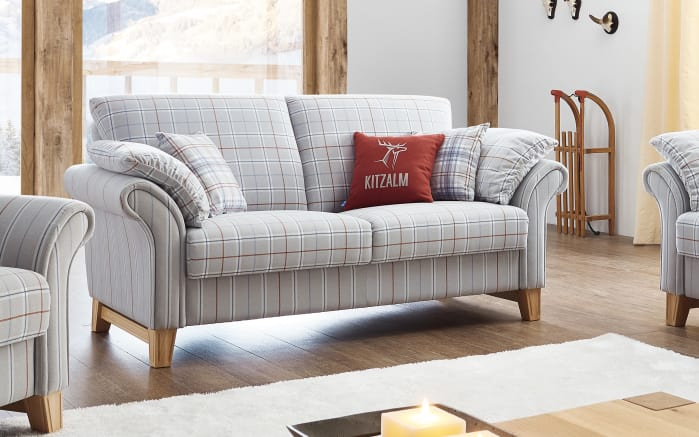 sofa 2 sitzer jochberg in grau online bei hardeck kaufen. Black Bedroom Furniture Sets. Home Design Ideas