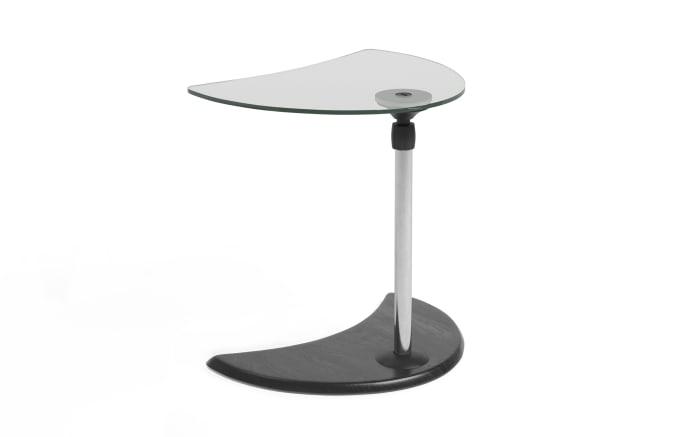 Beistelltisch USB Tisch A in Buche grau mit Chrom Gestell