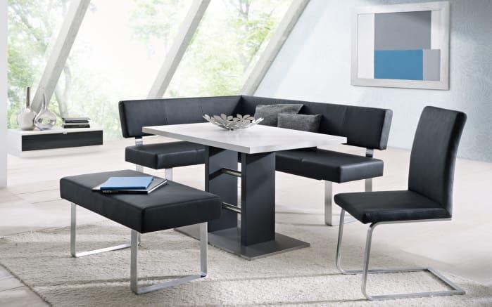 eckbank milano in schwarz online bei hardeck entdecken. Black Bedroom Furniture Sets. Home Design Ideas