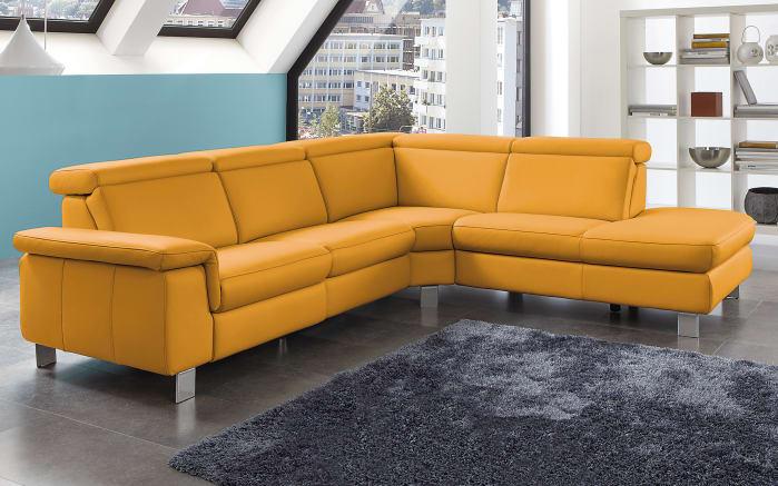 leder wohnlandschaft lava in curry online bei hardeck kaufen. Black Bedroom Furniture Sets. Home Design Ideas