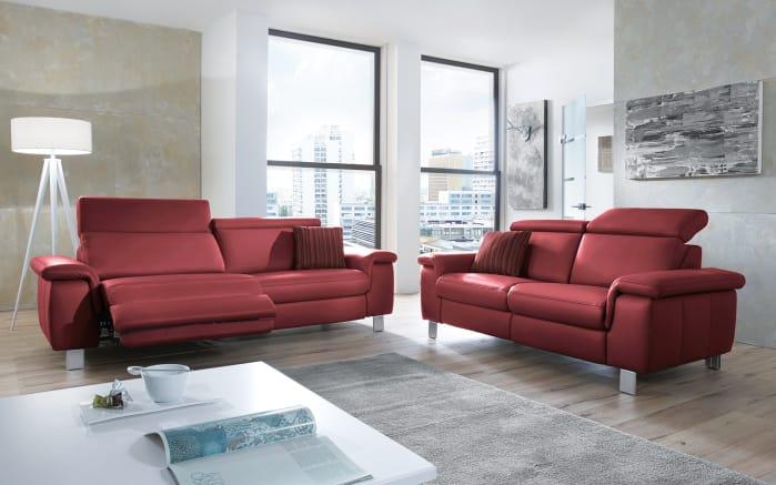 steinpol polsteria ledergarnitur lava in rot online bei. Black Bedroom Furniture Sets. Home Design Ideas