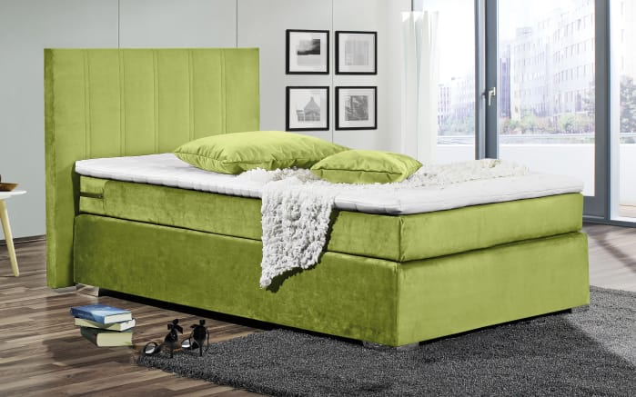 boxspringbett in lime gr n online bei hardeck kaufen. Black Bedroom Furniture Sets. Home Design Ideas