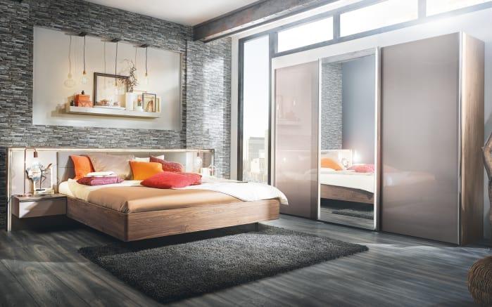 Schlafzimmer Ipanema in Samtbraun/Macadamia-Nussbaum-Optik