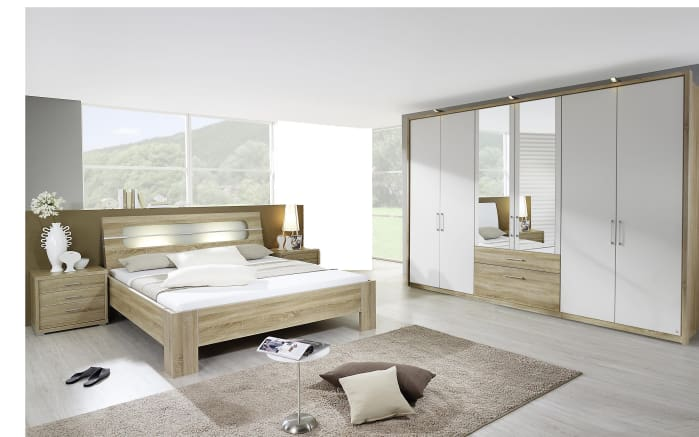 schlafzimmer neuss in eiche sonoma optik alpinwei online bei hardeck kaufen. Black Bedroom Furniture Sets. Home Design Ideas