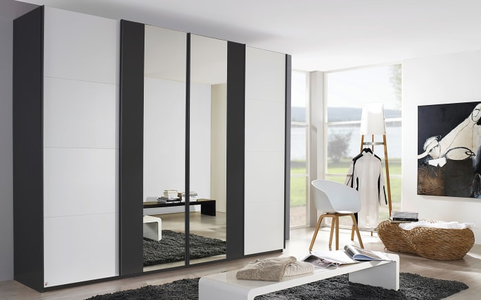 schwebet renschrank meola in alpinwei graphit online bei. Black Bedroom Furniture Sets. Home Design Ideas