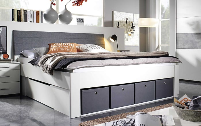 bett scala in alpinwei grau online bei hardeck kaufen. Black Bedroom Furniture Sets. Home Design Ideas