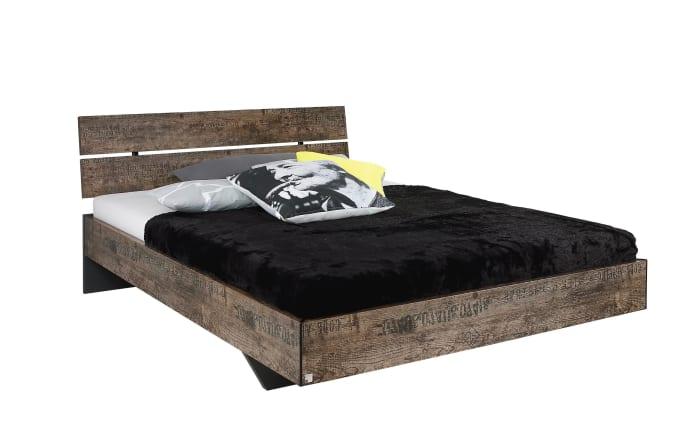 Bett Sumatra in schwarz/Vintage braun Optik