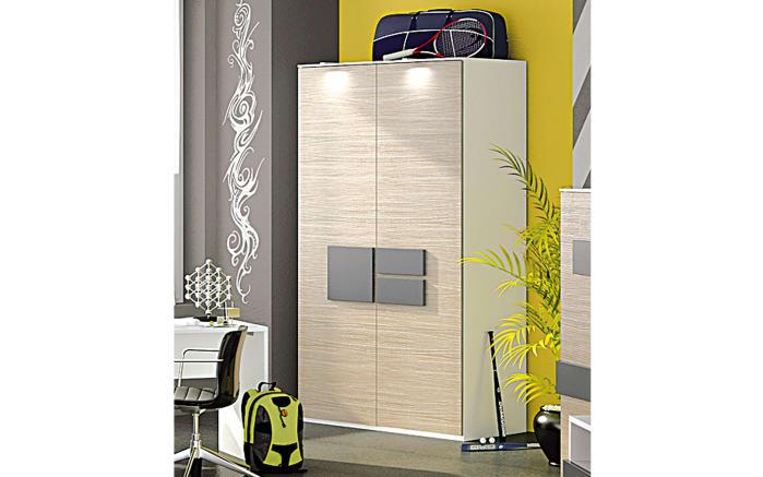 Kleiderschrank HiLight 323 in Driftwood/weiß