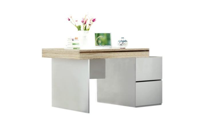 Schreibtisch Shake in Sonoma-Eiche-Optik/weiß