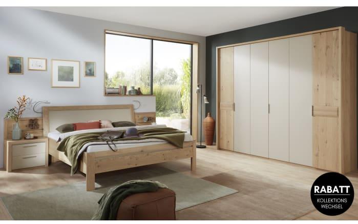 Schlafzimmer Capua in Lack sand/Balkeneiche funiert