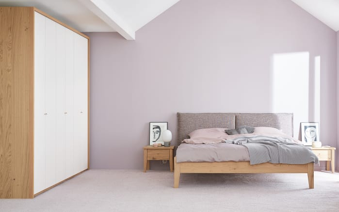 Schlafzimmer Janne in Balkeneiche furniert/weiß online bei HARDECK ...