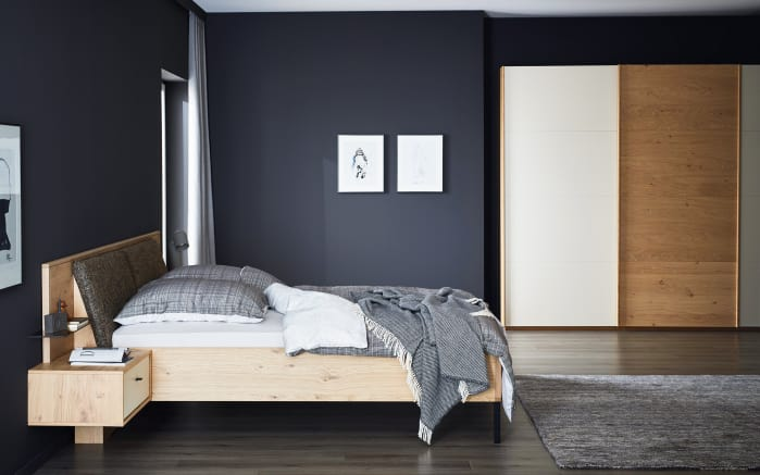 schlafzimmer justus in balkeneiche furniert mit lack sand. Black Bedroom Furniture Sets. Home Design Ideas