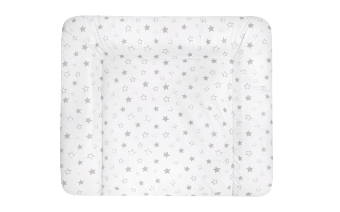 Wickelauflage Softy in weiß mit Sternchen in grau, B/T ca. 75 x 85 cm