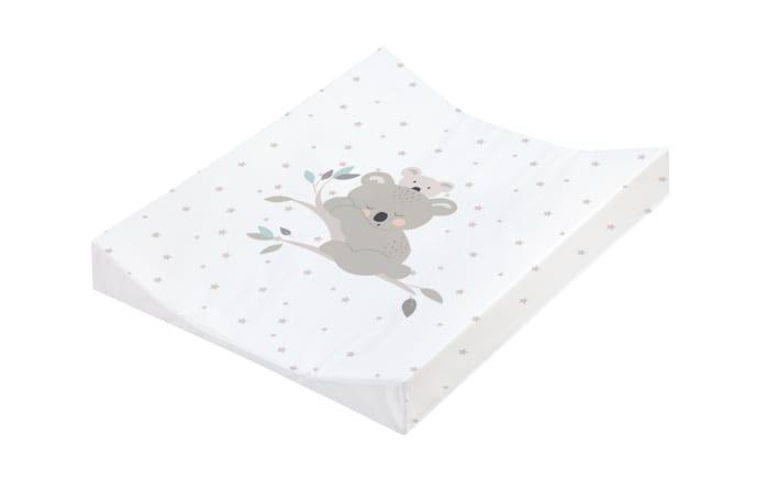 Wickelauflage in weiß mit Motiv Koalas, B/T ca. 75 x 85 cm