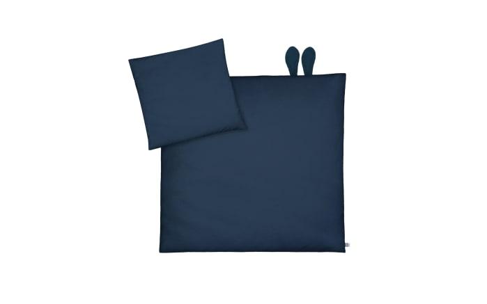 Bettwäsche mit Ohren in Pique Night Blue, 80 x 80 cm