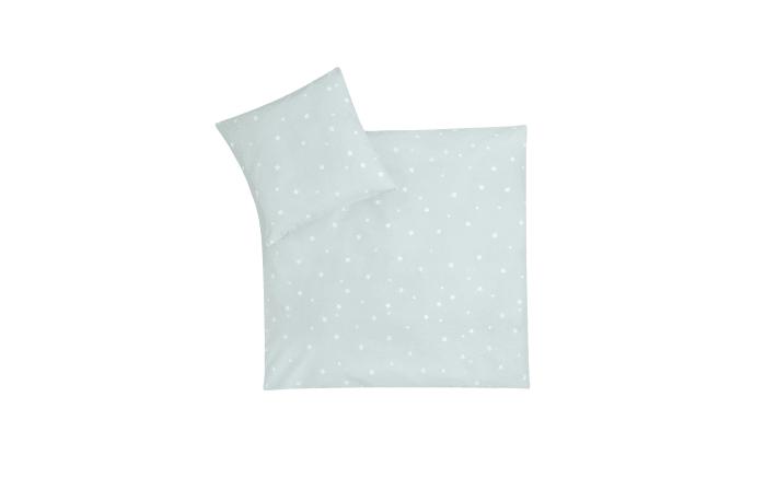 Bettwäsche Allover in mint mit Muster Star mint, 80 x 80 cm