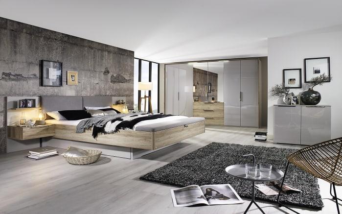 Schlafzimmer 4037 Seidengrau Eiche Sanremo Hell Optik Liegeflachenbreite Ca 200 Cm Online Bei Hardeck Kaufen