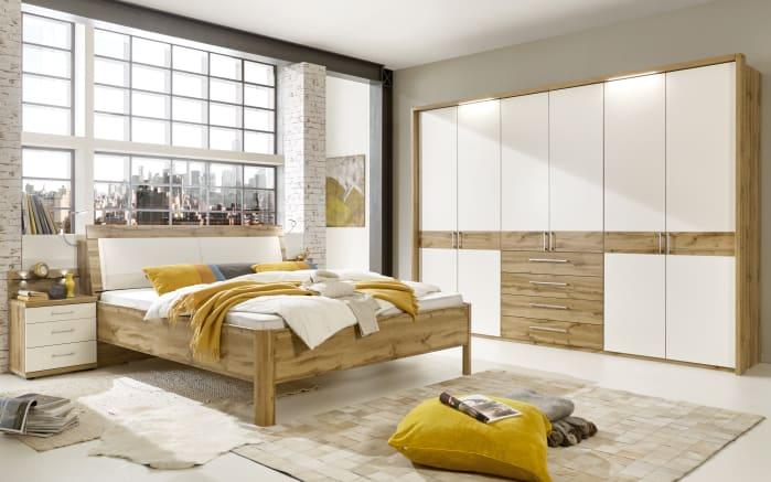 Schlafzimmer Padua in Balkeneiche Nachbildung/weiß