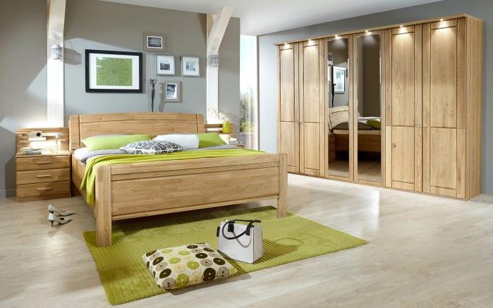 Schlafzimmer Borkum in Eiche teilmassiv online bei HARDECK kaufen