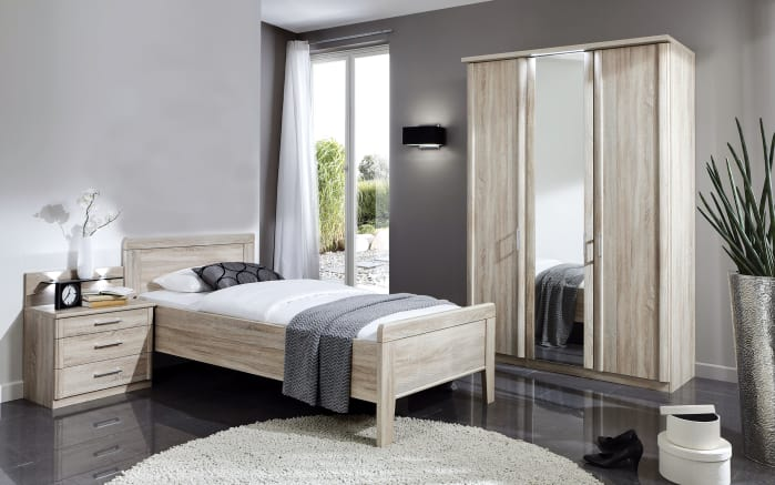 komfort schlafzimmer meran in eiche s gerau optik online bei hardeck kaufen. Black Bedroom Furniture Sets. Home Design Ideas