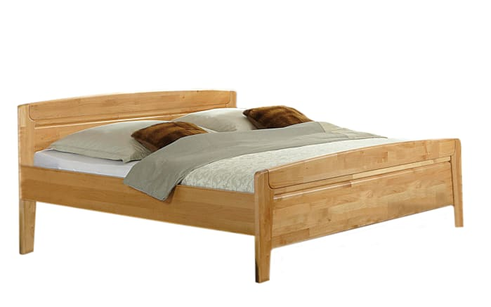 Komfort-Doppelbett Lausanne in Erle teilmassiv