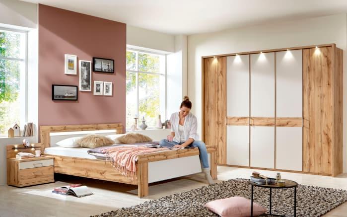 Schlafzimmer Donna 2 in champagner/Balkeneiche-Optik online bei ...