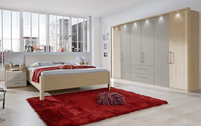 Schlafzimmer Andorra in kieselgrau/Steineiche-Optik