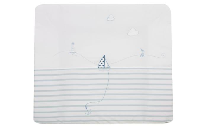 Wickelauflage Meerlust in blau/weiß, 70 x 85 cm