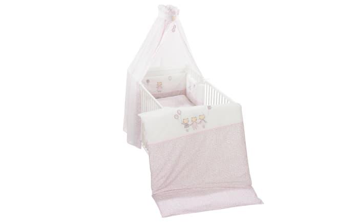 Bettset Cats in rosa/weiß in 100 x 135 cm