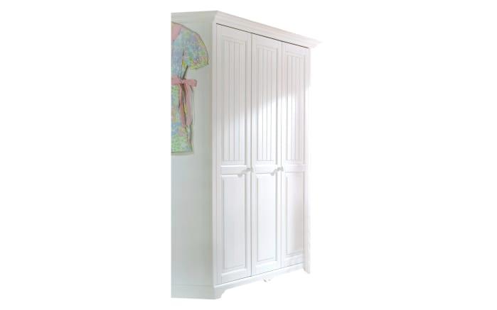 Kleiderschrank Cinderella Premium in Kiefer weiß lackiert massiv, Breite ca. 171 cm