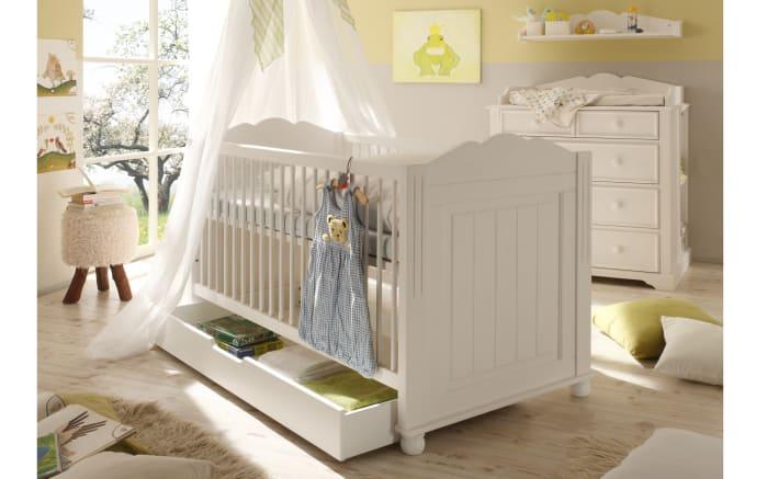 Kinderbett Cinderella Premium in Kiefer weiß lackiert massiv