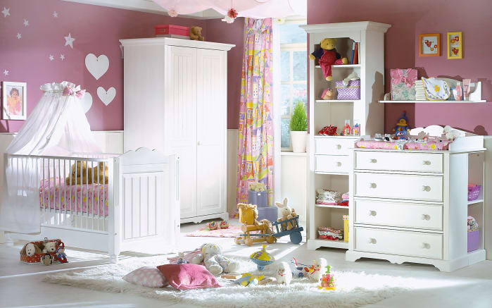 babyzimmer cinderella premium in kiefer wei lackiert online bei hardeck entdecken. Black Bedroom Furniture Sets. Home Design Ideas