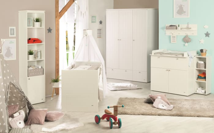 Babyzimmer Mia in Canadian white Optik